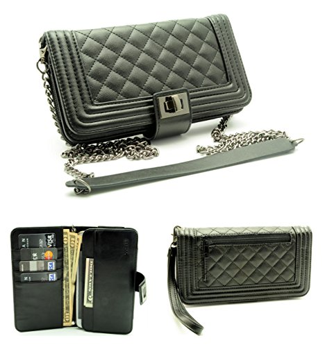 ZZYBIA® Crossbody / Wristlet Clutch 2 way Coin Zip Mobile Case Wallet...