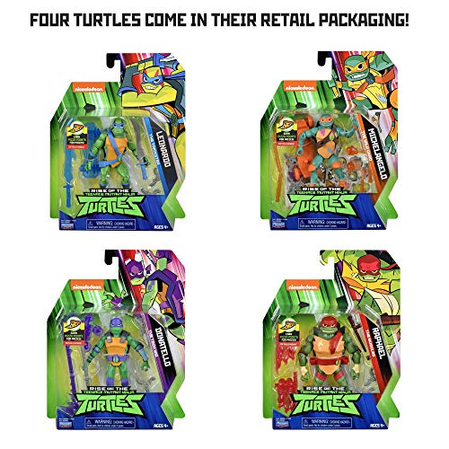 Rise of the Teenage Mutant Ninja Turtles Basic Action Figure Four Pack]()