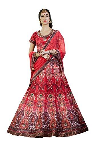 IWS Indian Women Designer Wedding red Lehenga Choli K-4571-40086