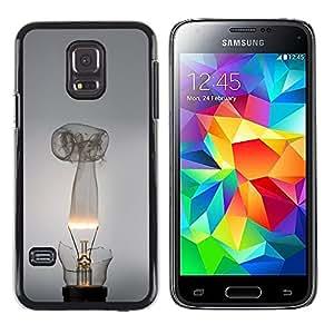 LECELL--Funda protectora / Cubierta / Piel For Samsung Galaxy S5 Mini, SM-G800 -- Broken bombilla --
