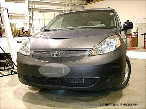 Lebra 2 piece Front End Cover Black - Car Mask Bra - Fits - TOYOTA SIENNA 2006 thru 2010