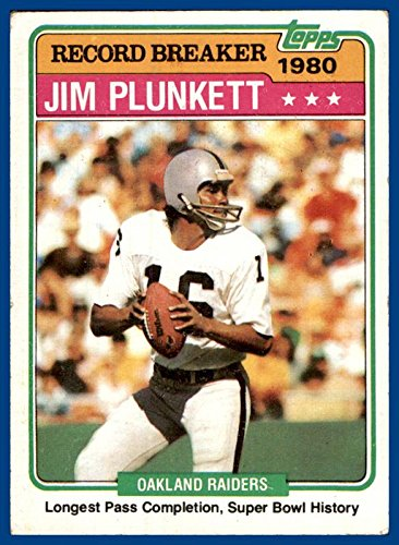 1981 Topps #335 Jim Plunkett Super Bowl History OAKLAND RAIDERS STANFORD CARDINALS (ex)
