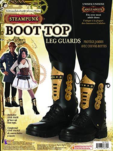 Steampunk Black & Gold Boot