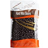 Hair Removal Wax Without Strips - Bluezoo Chocolate Depilatory Pearl Hard Wax / Brazilian Granules Hot Film Wax Bead For Hair Removal(stripless) ,10ounce/300g
