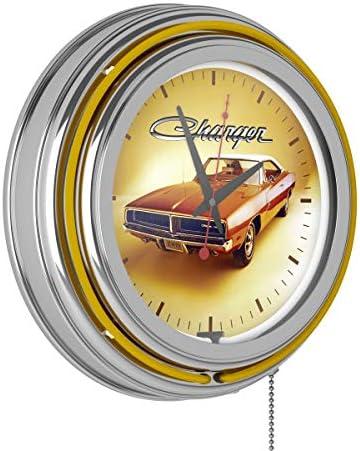 <span style=''>Trademark Gameroom Dodge Chrome Double Rung Neon C..</span>