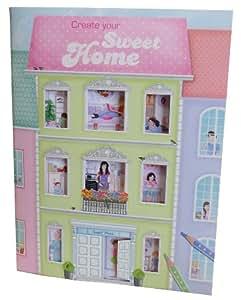 Depesche Create Your Sweet Home - Libro para dibujar diseños de casas (con pegatinas) - Create your sweet home. Cuaderno