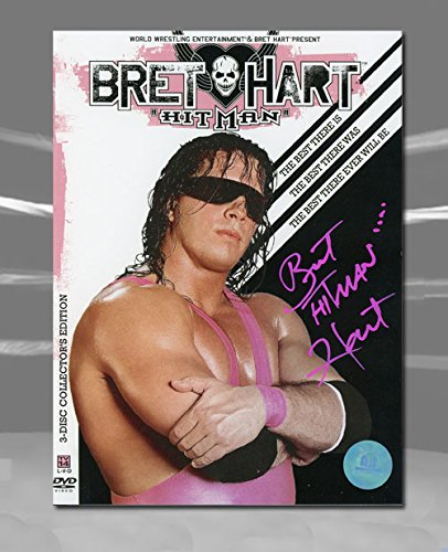 Autograph Authentic HARB000080 Bret Hitman Hart WWE Autographed The Best Wrestling DVD Collectors Set by Autograph Authentic