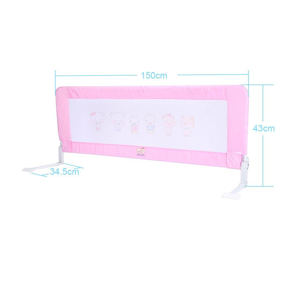 150, Rose 150//180cm Barri/ère de s/écurit/é Lavable en Cocoarm Barri/ère de Lit pour b/éb/é enfant
