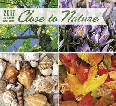 Close to Nature 2017 Wall Calendar (16 Month)