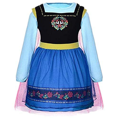 Tsyllyp Girls Halloween Dress Princess Anna Elsa Alice Sofia Dresses Costumes -