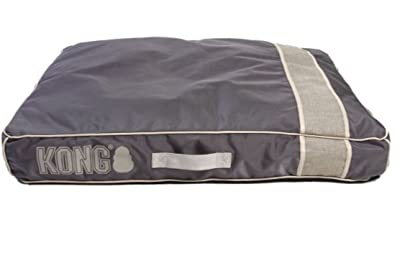 KONG Chew Resistant Heavy Duty Pillow Dog Bed Grey