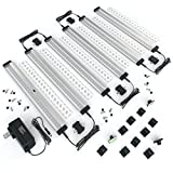 EShine 6 Panels 12 Inch LED Under Cabinet Lighting, Hand Wave Activated - Deluxe Kit, Warm White (3000K)