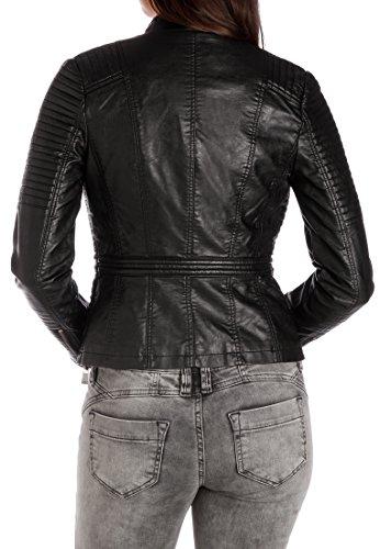 Femme Black Blouson Fritzi Noir Denver aus Preussen 001 SqvnBUZ