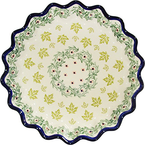 Polish Pottery Pie Plate or Quiche Plate Eva's Collection