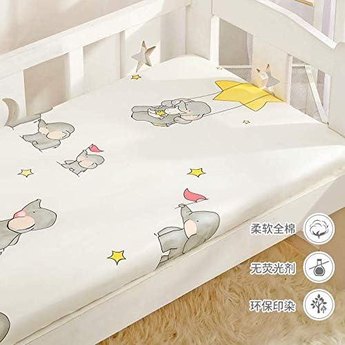 Violating animals Algodón Bebé One Piece Recién Nacido Vivero Sábanas Bebé Baby Elephant-A Version 65 * 120 * 5Cm: Amazon.es: Hogar