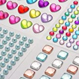 Rhinestone Sticker,self Adhesive Jewels Craft Jewels Crystal Gem Stickers, Assorted Size