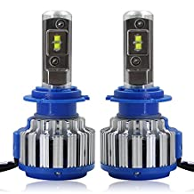 RCP - H7 - LED Headlight CREE Bulbs Conversion Kits + Canbus (1 Pair)- 70W 7200Lm White(6,000K) - 2 Year Warranty