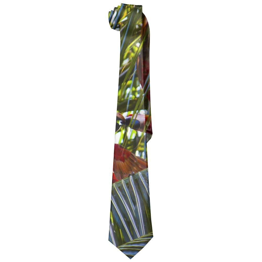 Men's Fashion Printed Floral Necktie Color Perrot Travel Trees Luxury Silk Neck Ties