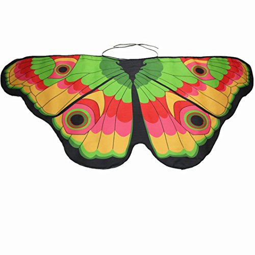 Mchoice Women Bohemian Butterfly Print Shawl Pashmina Costume Accessory (In The Spotlight Costumes)