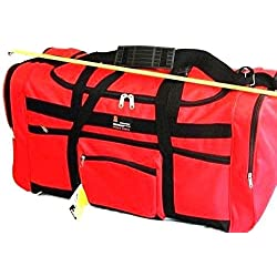 """28"""" 50lb. Capacity RED with Black Trim Duffle Bag/ Gym Bag / Luggage / Suitcase"""