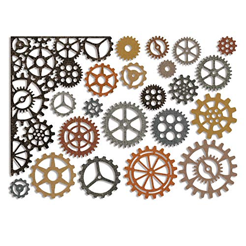 Sizzix Thinlits Die Set, Gearhead by Tim Holtz, 22-Pack