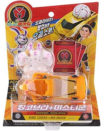 Ghost Mecard King Cobra and MR. Moon Mini Monster Toy Transforming Ghost Rabbit from Ball Shape Shooting Pop Up on Yellow Ghost Rider