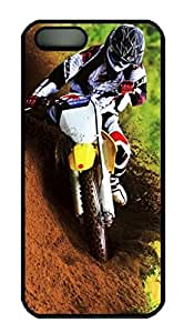 Cool Design Dirt Bike Printed Hard Plastic Case Shell Cover for iphone 5 5S Black PC Material