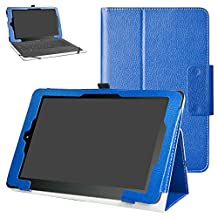 """RCA 10 Viking Pro 10.1 Case,Mama Mouth PU Leather Folio 2-folding Stand Cover with Stylus Holder for 10.1"""" RCA 10 Viking Pro Tablet,Dark Blue"""