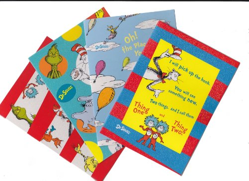 DR. SEUSS Note Card Set Cat in the Hat, Grinch, Horton, I...