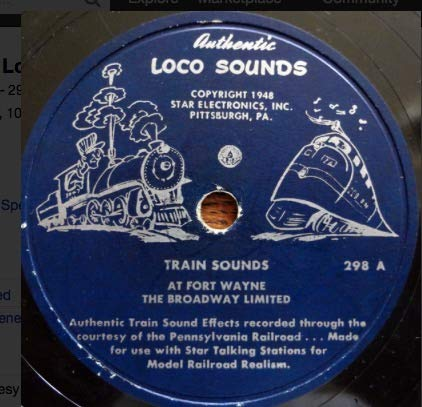 Train Sounds At Pittsburgh - The Pennsylvania's General. 78 RPM, 10