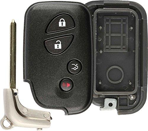 (KeylessOption Keyless Entry Remote Key Fob Car Smart Key Shell Case Button Cover)