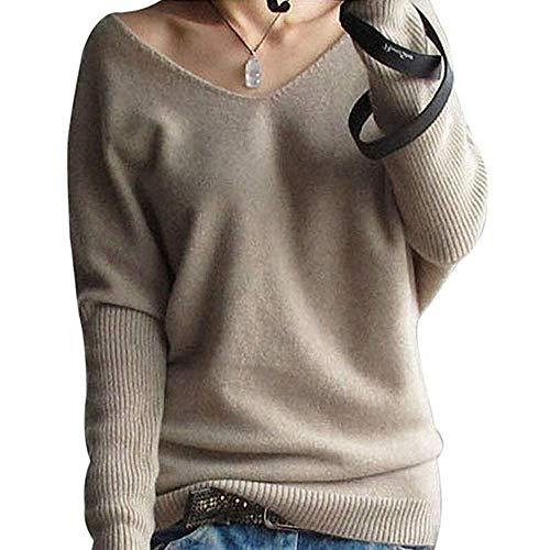 AOJIAN Women Hoodie Long Sleeve Solid Knitted