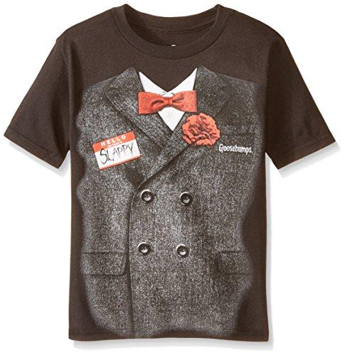 C-Life Group Boys' Little Halloween Gossebumps Movie Tuxedo Tee, Black 5-6 -