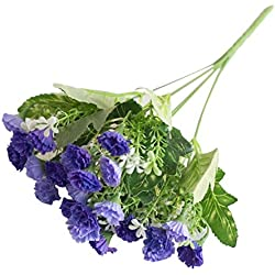 alignmentpai 1 Bouquet 25 Heads Artificial Flower Lilac False Plant Centerpieces Wedding Home Decor Purple