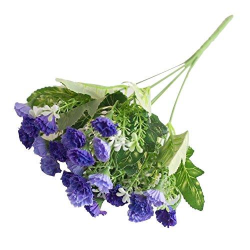 alignmentpai 1 Bouquet 25 Heads Artificial Flower Lilac False Plant Centerpieces Wedding Home Decor Purple