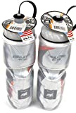 2-Pack Polar Insulated CARBON ORANGE 24oz Water Bottles Bike Dishwasher Safe