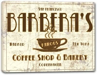 BARBERA'S Coffee Shop & Bakery Stretched Canvas Print 16