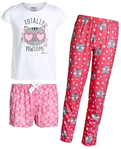 Girls Pajamas Size 14 - Limited Too Girls' 3-Piece Pajama Set