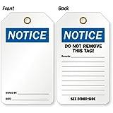 OSHA Notice [Front] / Do Not, Self-Laminating Plastic, Eyelet, 25 Tags / Pack, 5.875'' x 3.375''