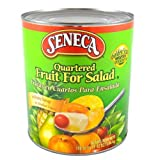 Seneca Choice Quartered Fruits for Salad in Heavy Syrup, 108 Ounce -- 6 per case.