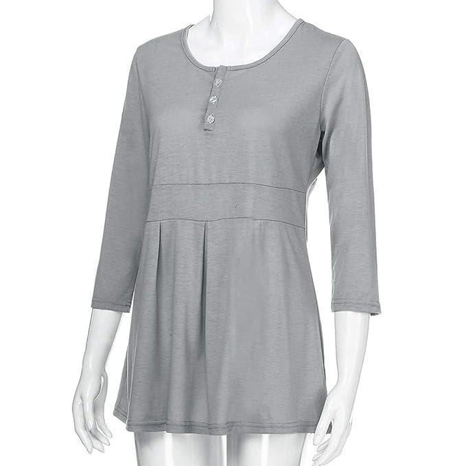 YiYLinneo Ropa De Embarazadas Modernas Mujer Ropa Bebé para La Camiseta de Maternidad Mujeres Embarazadas Tops Informal T-Shirt Maternidad Vestido: ...