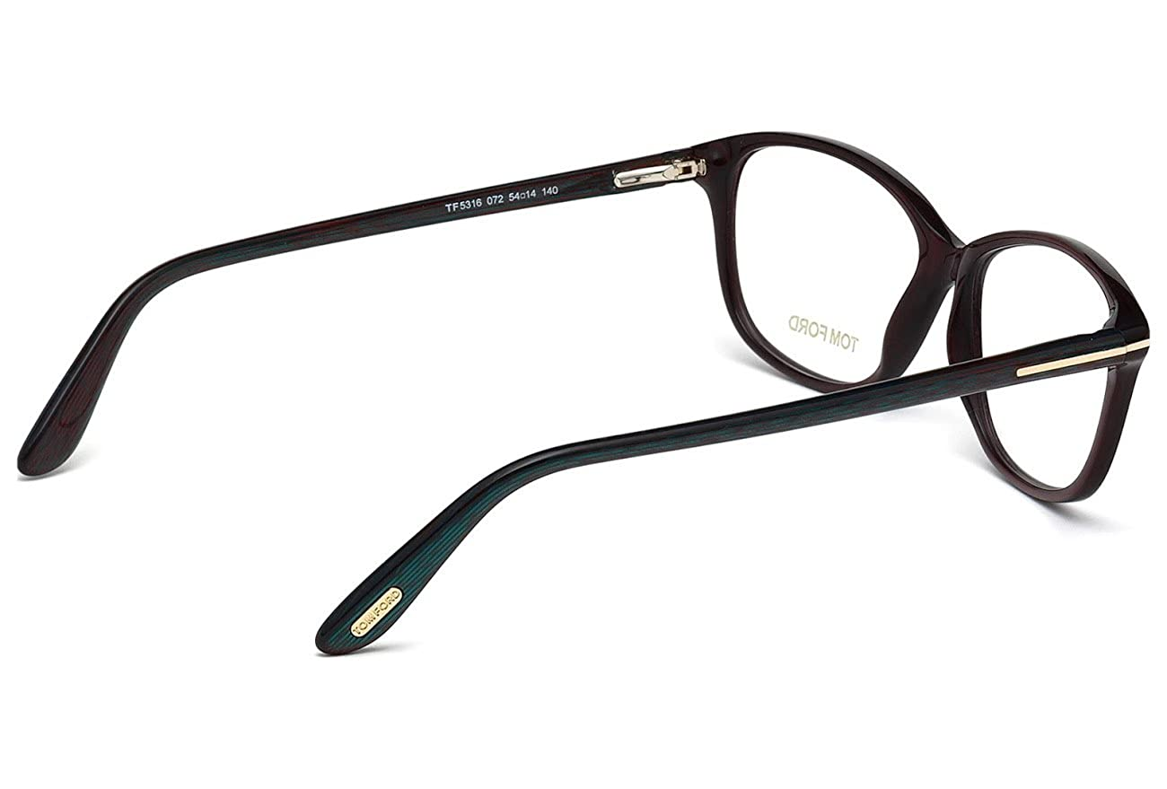 60da27e0ca8 Tom Ford FT5316 Square Burgundy Optical 54 Clear Lens Eyeglasses TF5316 072  New at Amazon Men s Clothing store