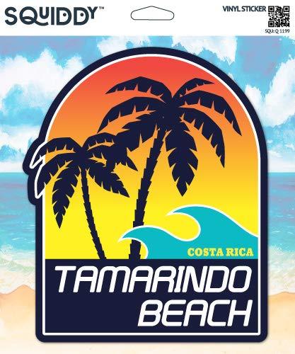 Squiddy Tamarindo Beach Costa Rica - Vinyl Sticker Decal for Phone, Laptop, Water Bottle (3