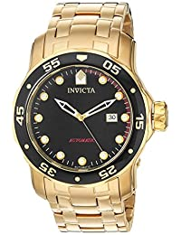 Invicta Men's 'Pro Diver' Automatic Stainless Steel Diving Watch, Color:Gold-Toned (Model: 23632)