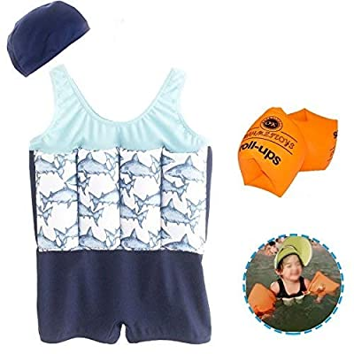 AMENON Baby Boys Girls Floatation Swimsuits Swim Vest with Adjustable Buoyancy