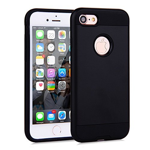 Price comparison product image iPhone 7 Case, iPhone 8 CaseCSTG Resilient [Black] Ultimate Protection From Drops and Impacts for Apple iPhone 7/iPhone 8