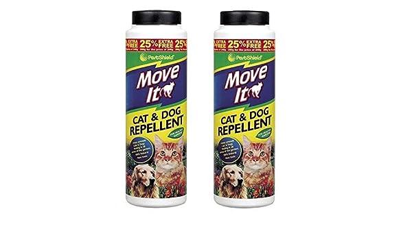 2 x PestShield Move It - Repelente de jardín para gatos y perros - No tóxico - 100% natural - 300 g: Amazon.es: Jardín