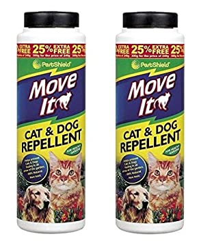 2 x PestShield Move It - Repelente de jardín para gatos y perros - No tóxico - 100% natural - 300 g: Amazon.es: Jardín