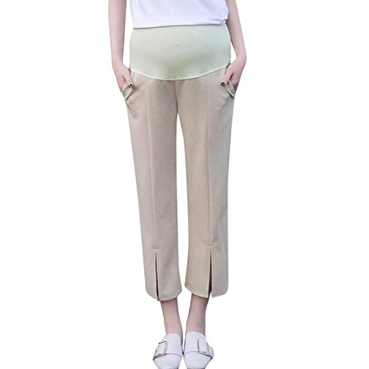 fd90f34a2d701 Dsood Maternity Leggings Over The Belly,Maternity Woman High Waist Pants  Trousers Pregnant Comfort Prop