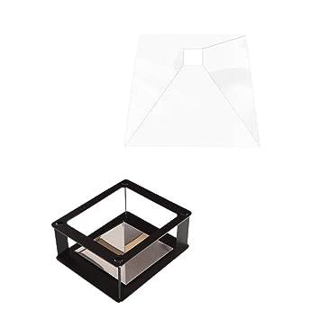 Sharplace 1x Caja de Pantalla Mágica Holográfica con 1x 3D Soporte ...